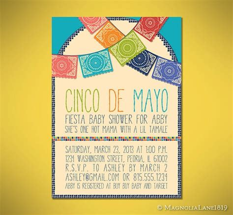 Cinco Shower by Mosaic Baby Shower Invitation Cards Customized To Your Event
