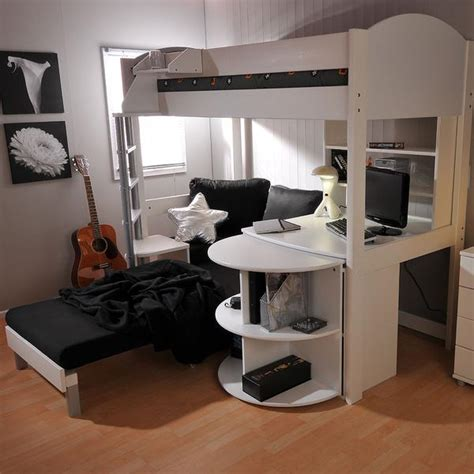 Stompa Casa 4 High Sleeper With Sofa Bed Pull Out Desk High Sleeper Bed With Desk And Sofa Bed