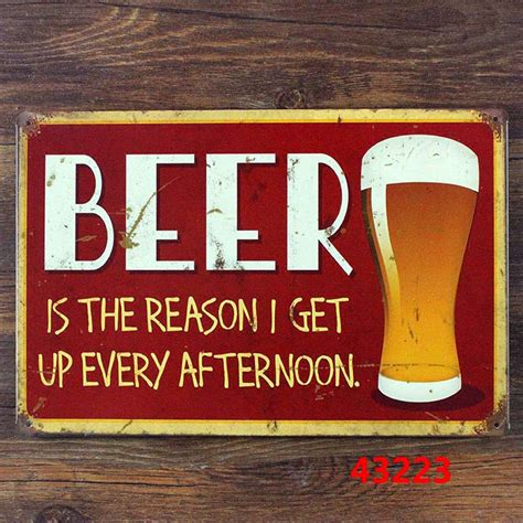 home decor wall signs new 2015 20x30cm metal tin signs beer vintage metal signs