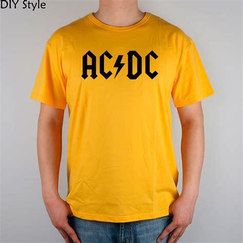 Ac Dc 50 T Shirt Size M flash rock n roll ac dc t shirt top lycra cotton t shirt new design high quality digital