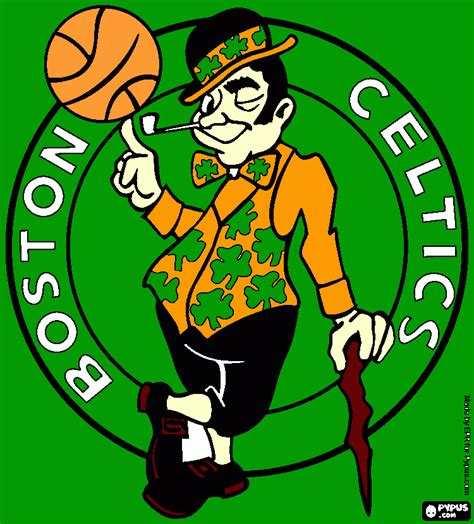 free boston celtics coloring pages