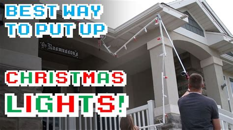 easy way to hang christmas lights on a christmas tree the best way to put up lights