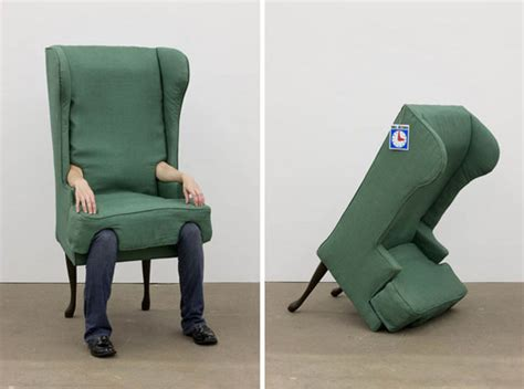 human chair wearable furniture the human chair things