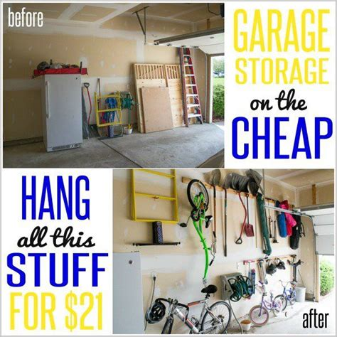 Inexpensive Garage Ideas by How To Hang Stuff In Your Garage On The Cheap The Cool