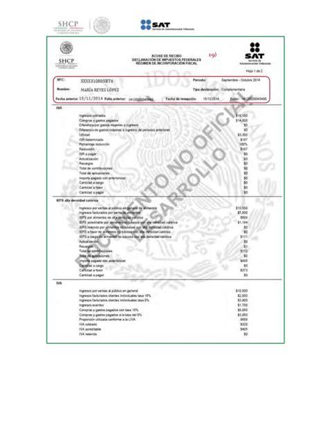 guia regimen de incorporacion fiscal 2015 slideshare formato para pago de contribuciones federales regimen de