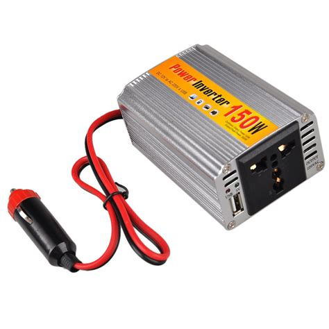 Ac Setengah Pk Inverter 150w dc 12v to ac 220v car power inverter w usb connector