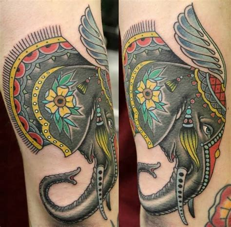 elephant tattoo neo traditional pin by no regrets on neo traditional pinterest
