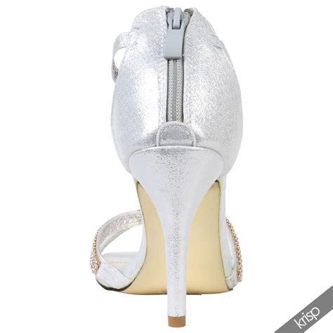 Weiße Brautschuhe Mit Riemchen by Damen Gl 228 Nzende Riemchen Sandalette Strass Gold