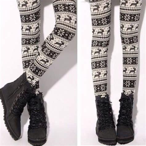 aztec pattern leggings outfit leggings doublelw deer aztec tribal pattern tights