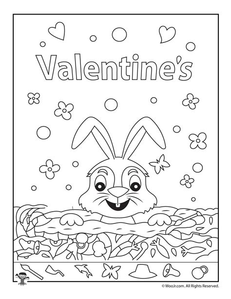 free printable hidden pictures for valentines day valentine s day find the item activity woo jr kids