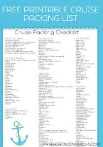 Free printable cruise packing list eliminate the stress of getting