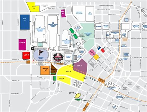uga parking map stadium maps atlanta falcons dome one dome drive atlanta ga 30313 1591