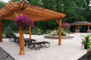 Outdoor Entertainment Area Designs - pergolas pergola schenectady slingerlands loudonville ny