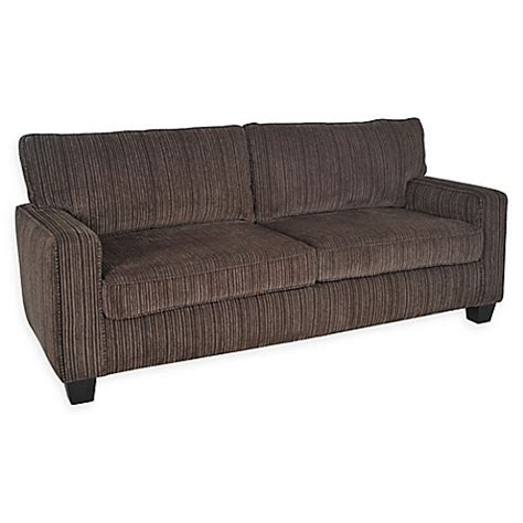 serta palisades leather 78 inch sofa serta 174 palisades 78 inch linen sofa bed bath beyond