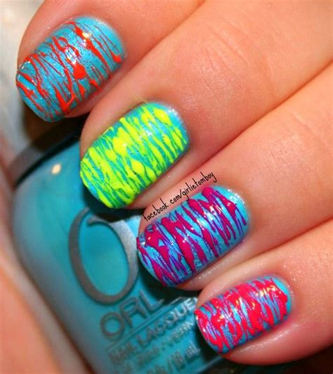 easy nail art bright colors bright and colorful nails pictures photos and images for