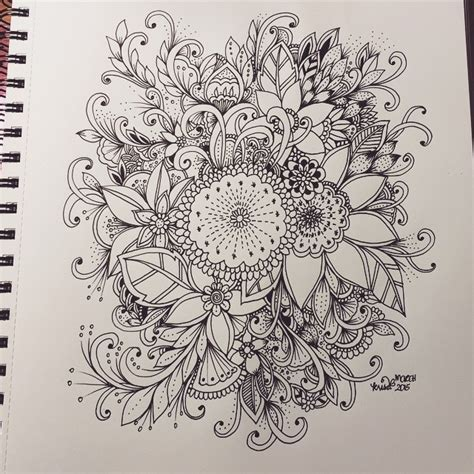 doodle drawing flowers kc doodle the usual flowers artjournal
