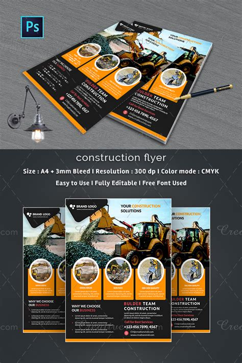 27 construction flyer templates free premium download