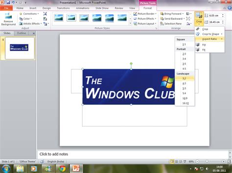 powerpoint tutorial windows 8 how to crop images using microsoft powerpoint 2010