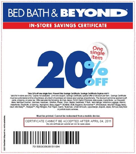 20 Coupon Bed Bath Beyond by 20 Bed Bath And Beyond Coupon 2013 Coupons Codes