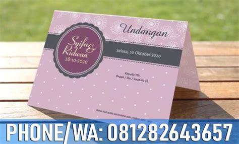tempat jasa cetak undangan pernikahan murah jakarta bisa