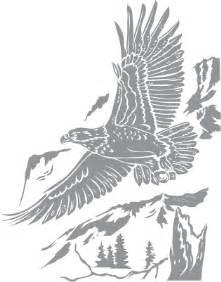 bald eagle over mountain pre cut patterns