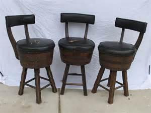 Whiskey Barrel Bar Stools 3 Vintage Whiskey Barrel Bar Stools