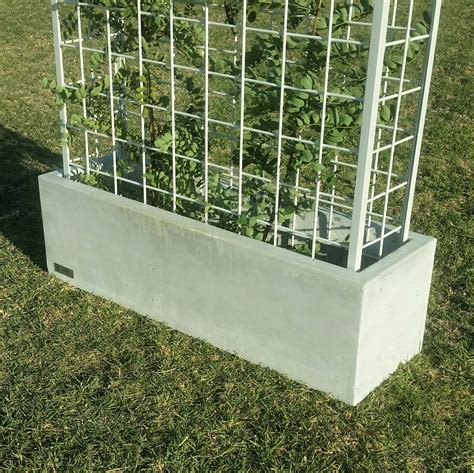 Large Rectangular Concrete Planters by Vertical Garden Polished Concrete Planter Large Rectangular
