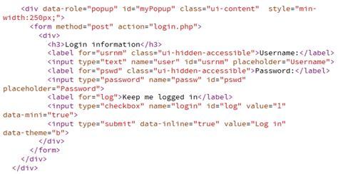 membuat form login jquery cara membuat form login popup di jquery mobile