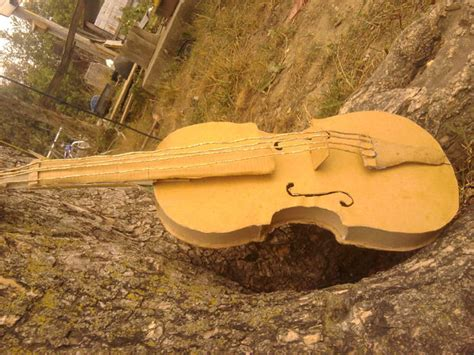 How To Make A Violin Out Of Paper - card board violin all