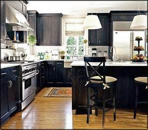 Diy Black Kitchen Cabinets Distressed Kitchen Cabinets Diy Home Design Ideas