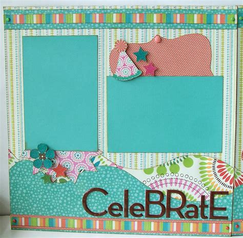 12x12 scrapbook templates 12x12 scrapbook layouts celebrate premade 2 page 12x12