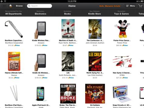 amazon products appshopper com amazon releases windowshop for ipad