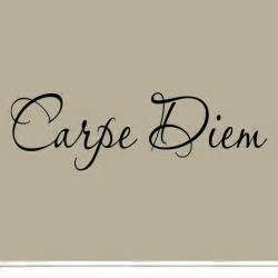 Carpe diem vinyl wall decal inspirational quote seize the
