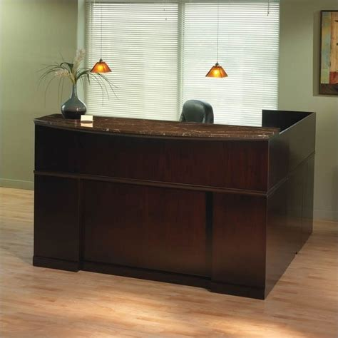 Marble Reception Desk Mayline Sorrento Left L Shaped Marble Counter Reception Desk Srcslm