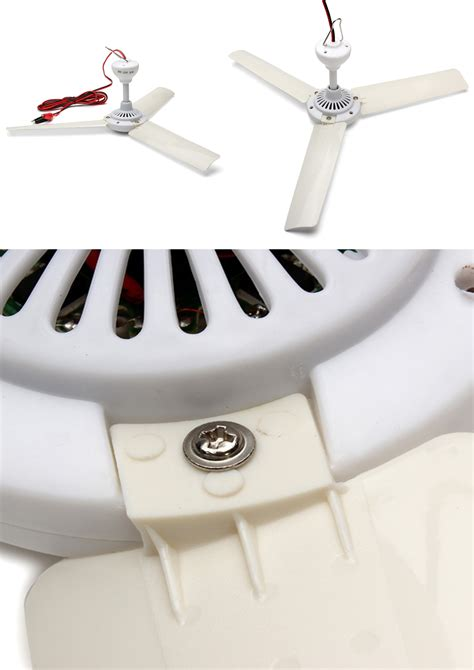 Boat Ceiling Fan by Ceiling Fan For 12v Battery Solar Rv Cer Boat Plastic 3