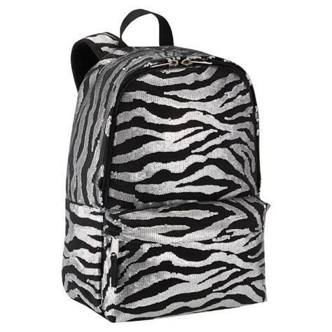 zebra pattern backpack sequin backpack silver zebra pbteen