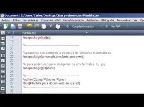 latex tutorial bibtex video tutorial referencias o bibliograf 237 a con latex