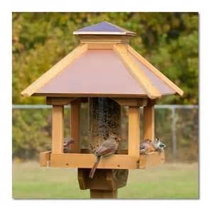Coppertop wood gazebo bird feeder woodlink