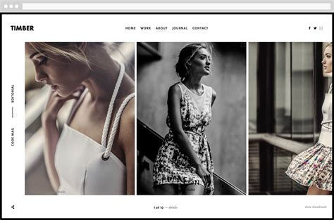 themeforest photography timber an unusual photography wordpress theme by