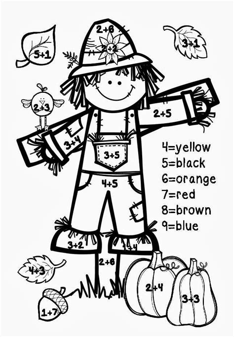 fall coloring pages color by number a tale of 2 first grades fall freebies
