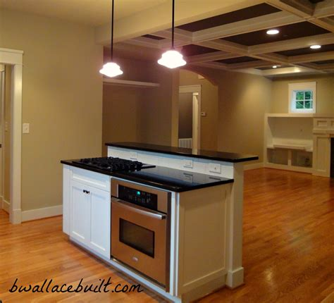 Stove In Island Kitchens | kitchen island with separate stove top from oven