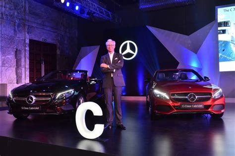 mercedes cheapest model in india mercedes launched c 300 and s 500 cabriolets in india