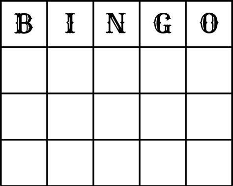 Bingo Template Word