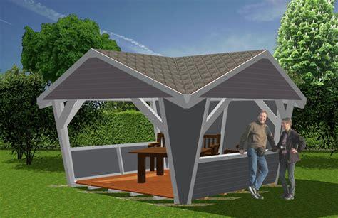 pavillon klein pavillion aus holz garten pavillions bauen novum carport