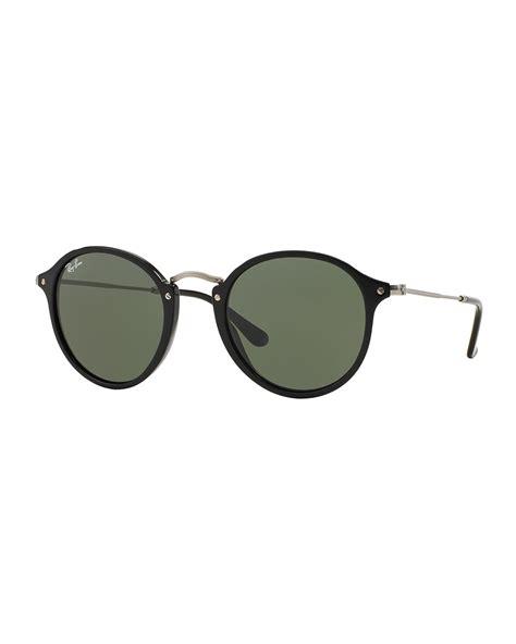 Sunglasses Rayban Metal ban plastic metal sunglasses in black lyst
