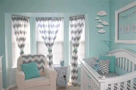 Aqua Nursery Curtains Aqua Or Teal And Gray Chevron Curtains Babies Pinterest Gray Chevron Aqua And Chevron