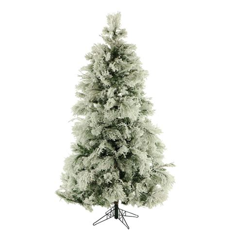 fraser hill farm 6 5 ft unlit flocked snowy pine