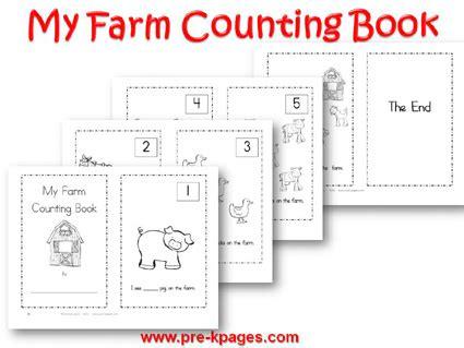 printable numbers book farm theme activities in preschool