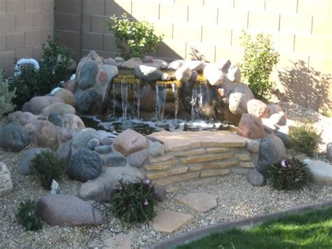 backyard pond waterfall ponds water features