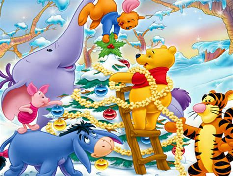 winnie the pooh friends christmas holiday pictures